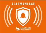 Alarm Zubehör Lupus Aufkleber Alarm