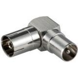 Coax Winkeladapter Stecker-Kupplung