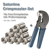 Sat Crimpmaster-Kit Pinza crimp con 10 spinotti F crimp