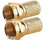 Sat F-Stecker 7,5mm Gold 2 Stück