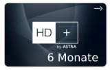 Sat Pay-TV HD Plus 6 Monate Karte