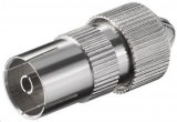 Coax Stecker Buchse FS 19z Metall