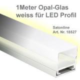 LED Leiste Aluminium-Profil Opalglas 1M