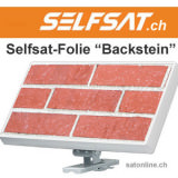 Selfsat Folie Backstein-Mauer